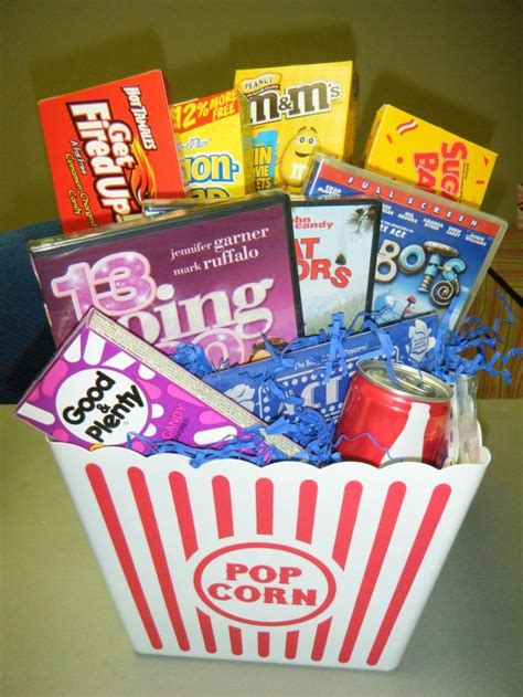 Gift Card Container Ideas - movie gift basket dollar store container walmart or cvs cheap movies five below