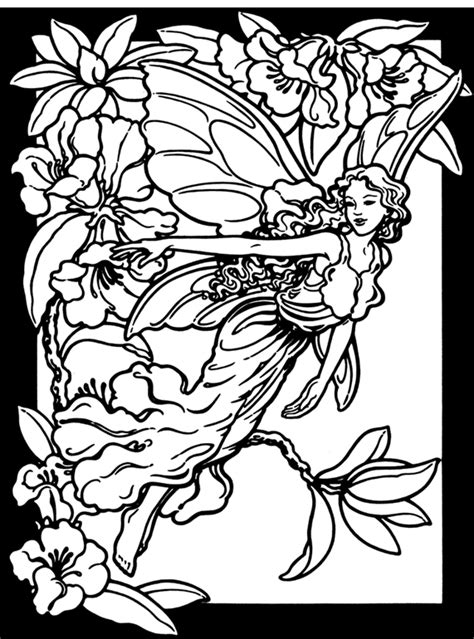 wood fairy coloring page inkspired musings spring fairies budget paper craft and