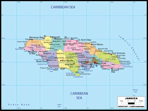 map of america showing jamaica maps usa map jamaica