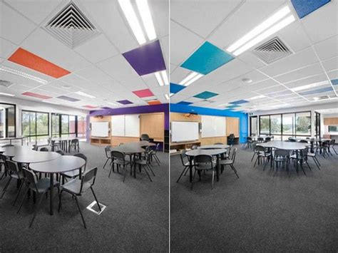 Modern School Interior Design by St S Primary School Colorful Ceiling Interior