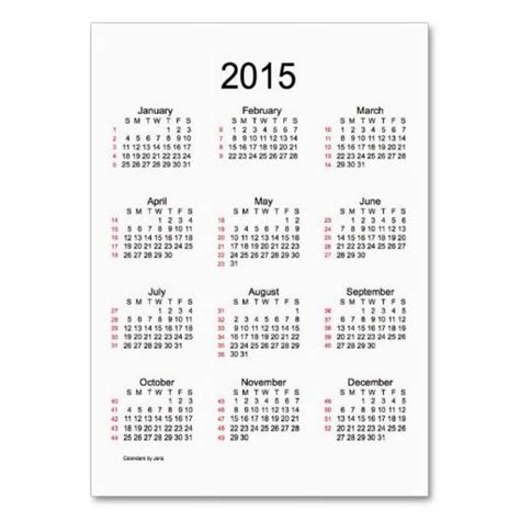 Calendar Week 2015 Discover And Save Creative Ideas