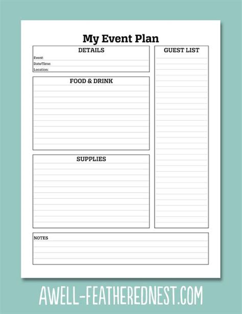 a well feathered nest plan your life printable planning 381 best printables images on pinterest free printables