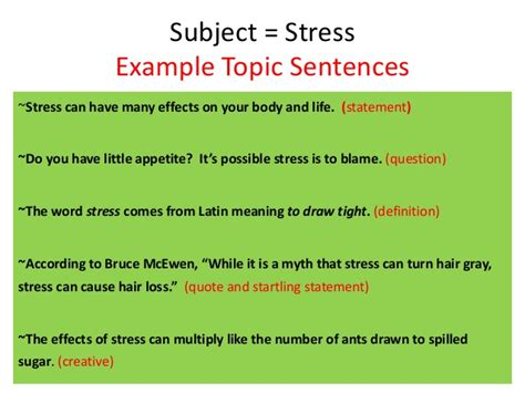 how to make a topic sentence for a research paper writing topic sentences