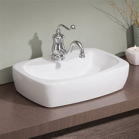 cheviot 1270 wh thema overcounter self rimming bathroom