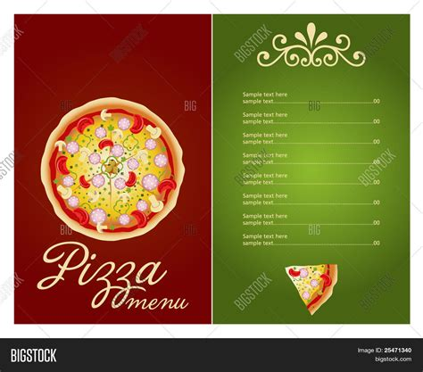 pizza menu template free pizza menu template vector vector photo bigstock
