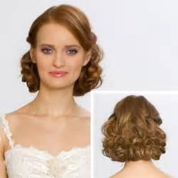 Medium length curly wedding hairstyle wedding hairstyles photos