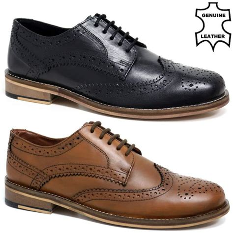 oxford wedding shoes new mens real leather casual formal brogue oxford office