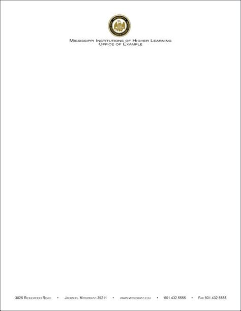 Official Letterhead Meaning Letterhead Information Exles Search