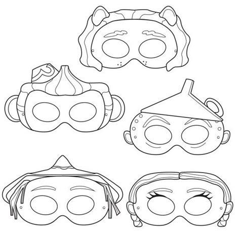 printable wizard mask wizard of oz printable coloring masks dorothy mask