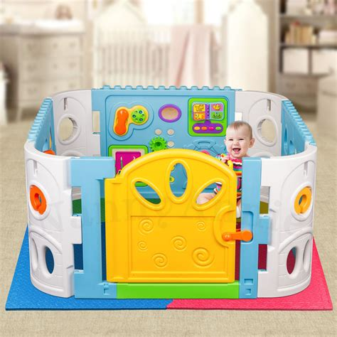 play pen interactive playpen and mat playpen with safety mat ebay