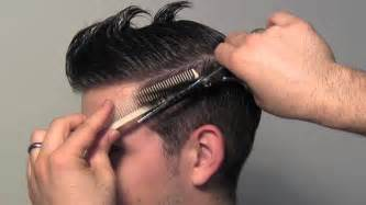 how to trim your hair for males classic tailored men s hair cut youtube