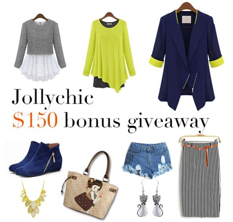 Giveaway Fashion - bookish lifestyle jollychic com 150 giveaway fashion store