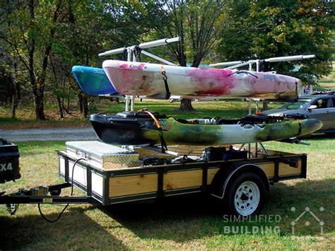 build   kayak trailer utility trailer conversion