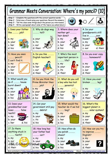 grammar meets conversation 10 possessive adjectives 10