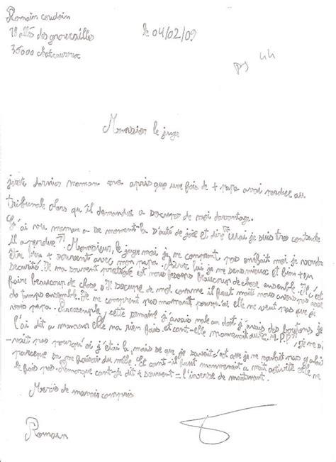 Demande De Lettre Pour Parloir Demande De Droit De Visite Au Juge Des Enfants