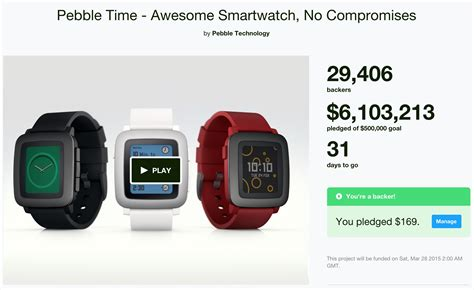 a for all time kickstarter pebble returns to kickstarter with smartwatch and