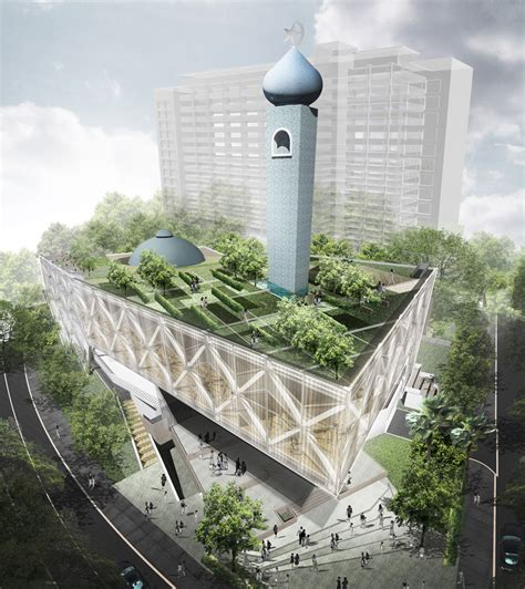 master design masjid al ansar mosque by farm architect
