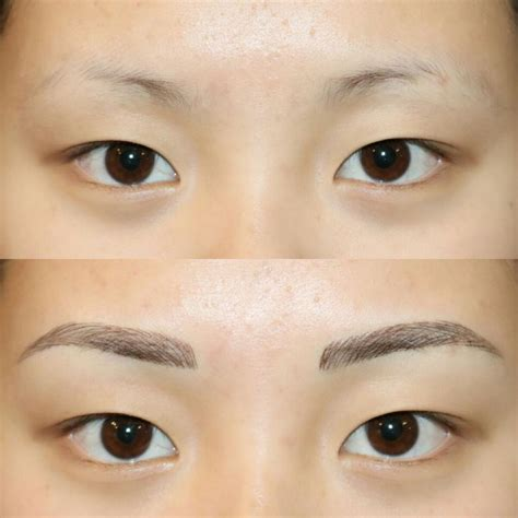 eyebrow tattoo pain level natural looking tattooed eyebrows my procedure process