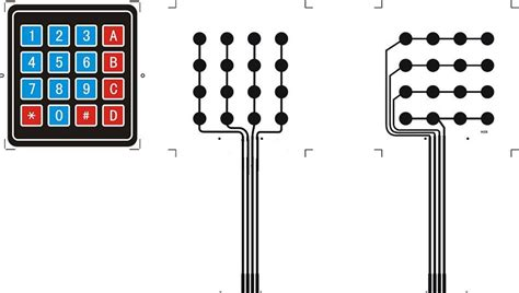 matrix keypad pull up resistor 4 by 4 matrix keyboard