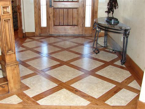 wooden floor tile for luxury home interior design idea