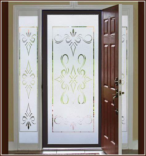 Etched Glass Windows And Doors South Etched Glass Decorative Window 32x74 In Wallpaper For Windows