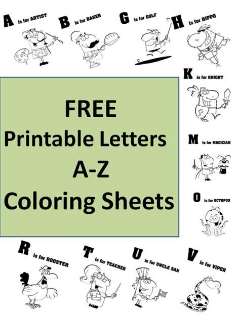 printable alphabet a z free printable a z coloring sheets