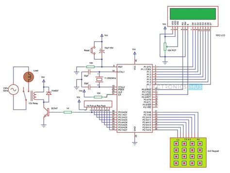password based circuit breaker project circuit working
