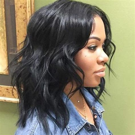 good cheap hair weave to use for bob hairstyles messy short wavy bob for black women hair pinterest