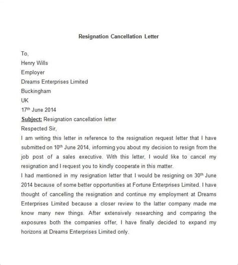 sle cancellation letter of resignation cancellation letter due to pregnancy 28 images turning