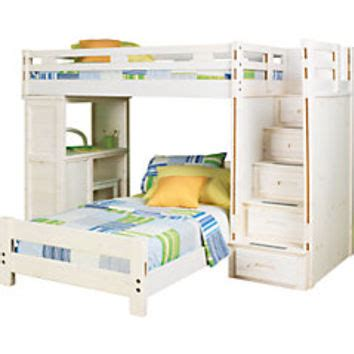 rooms to go bunk beds with desk creekside white wash twin twin step bunk from rooms to go