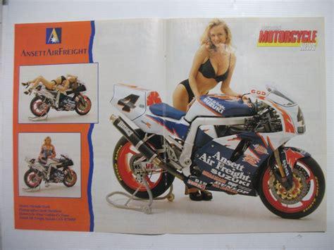 1995 ansett air freight suzuki gsx r750sp superbike magazine centrespread poster ebay 1993