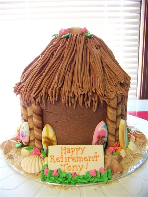 Tiki Hut Cake pin tiki hut luau cake by cakes unleashed cake on