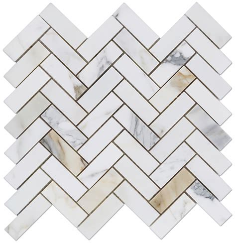 Metal Kitchen Backsplash Tiles calacatta gold italian marble 1x3 quot herringbone mosaic polished