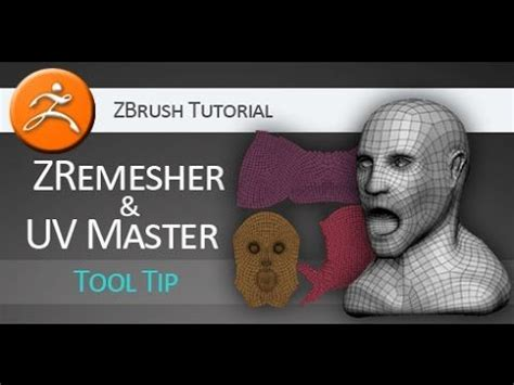zbrush subtool tutorial zbrush tutorial on using zremesher and uv master youtube