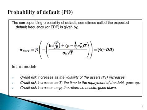 Credit Default Mathematical Formula Quot Credit Risk Probabilities Of Default Quot
