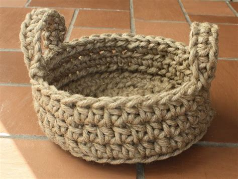 Macrame Crochet - easy crochet rope basket pattern macrame jute various sizes