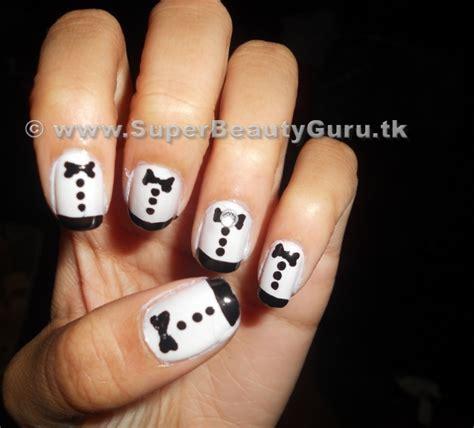 Tuxedo Nail Designs tuxedo nail tutorial how to paint tuxedo nail designs