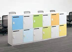 Small Home Office Design hot desking storage lockers