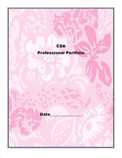 cda professional portfolio cover sheet book covers