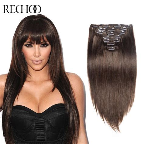 Hair Clip Asli Human Hair 100 human hair clip in extension remy indian hair