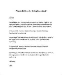 Cover Letter For Opportunity by Sle Thank You Letter To For Opportunity