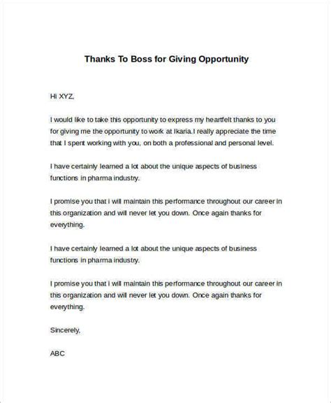 Thank You Letter For Opportunity By Email Sle Thank You Letter To 22 Free Documents In Word