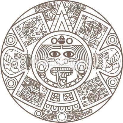 clipart calendario clipart vectoriel stylized aztec calendar tattoos