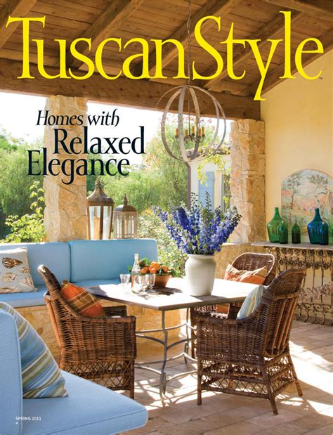 Tuscan Home Decor Magazine vignette design tuscan style magazine