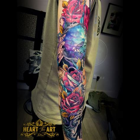 glow in the dark tattoos manchester neo traditional sleeve jpg ink pinterest tattoo