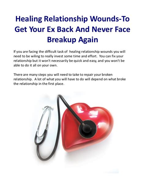 how to heal a broken get your ex and move on books healing relationship wounds to get your ex back and never
