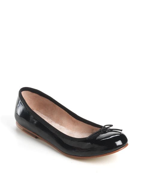 patent leather flats bloch patent leather ballet flats in black black patent lyst