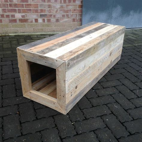 wooden pallet bench tunnel pallet wood bench