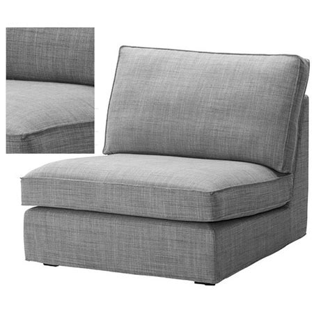 gray couch slipcover ikea kivik 1 seat sofa slipcover one seat chair cover