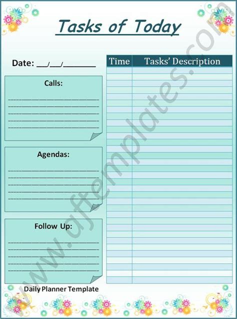 all free templates daily planner daily planner template all free